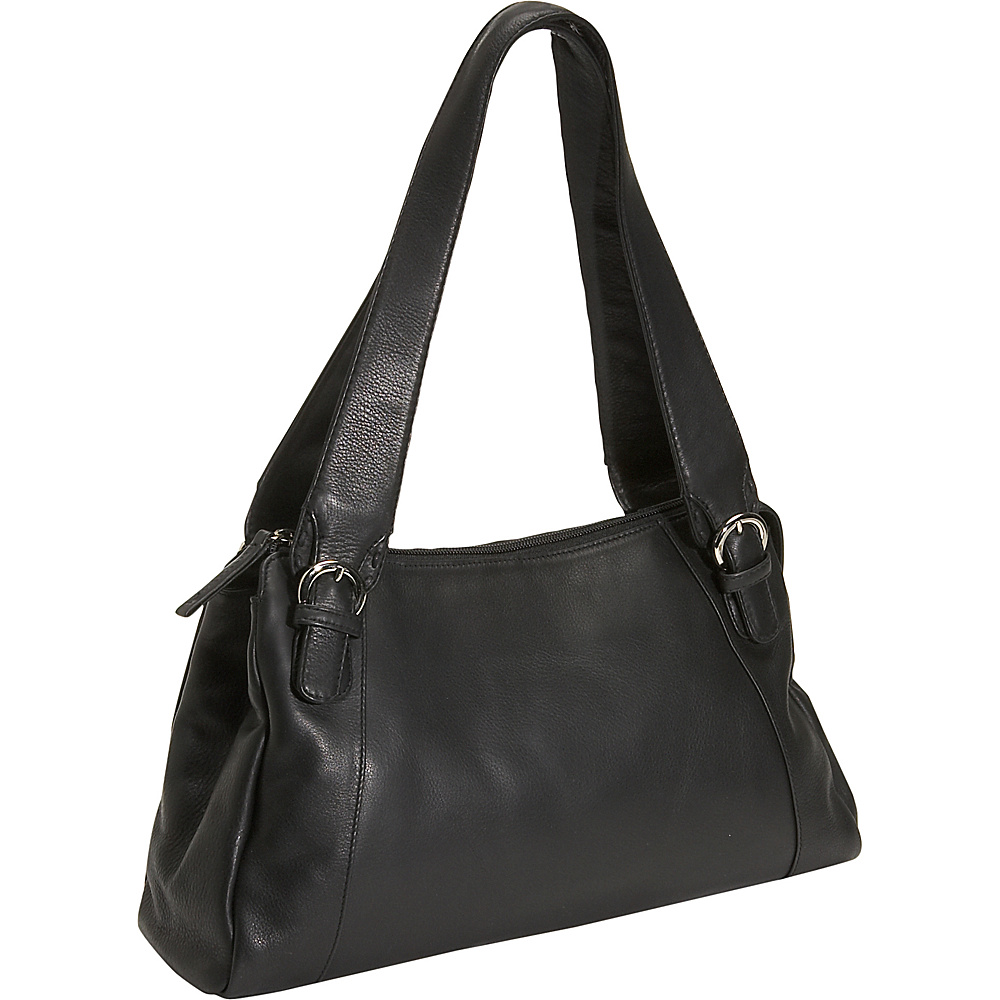 Derek Alexander Tapered Large Satchel - Black - Handbags, Leather Handbags