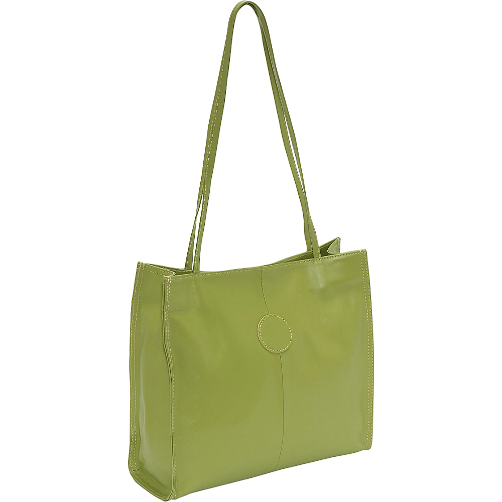 Piel Medium Market Bag - Apple - Handbags, Leather Handbags