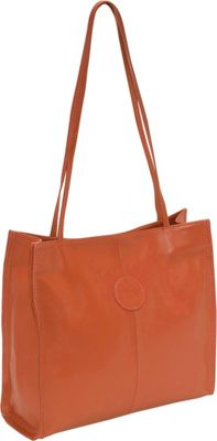 Piel Medium Market Bag Saddle - Piel Leather Handbags
