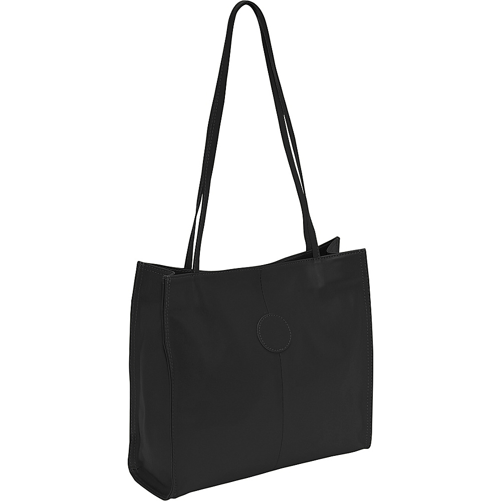 Piel Medium Market Bag Black - Piel Leather Handbags - Handbags, Leather Handbags