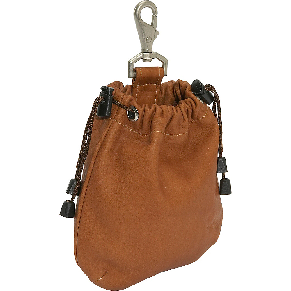 Piel Drawstring Pouch - Saddle - Travel Accessories, Travel Organizers