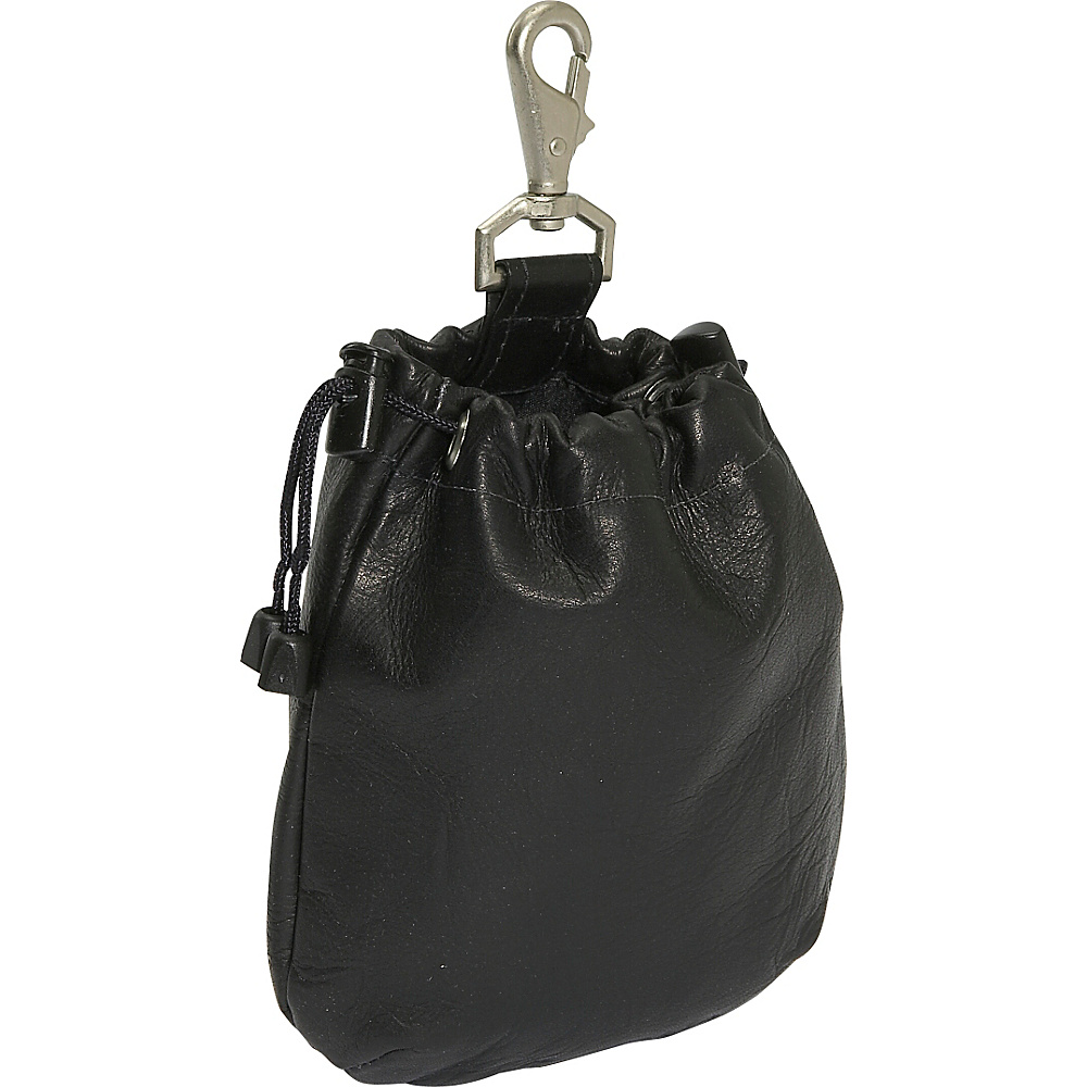 Piel Drawstring Pouch - Black - Travel Accessories, Travel Organizers