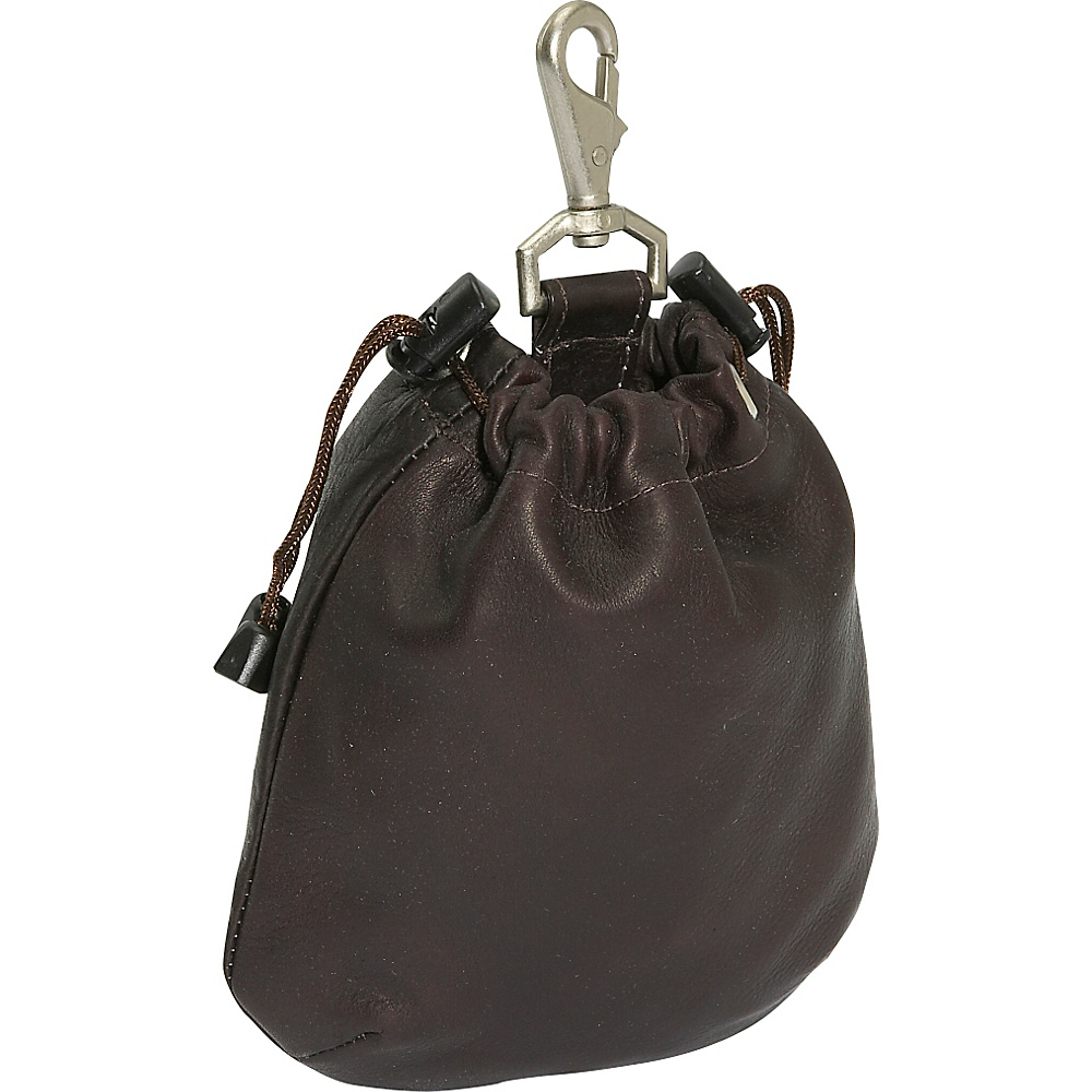Piel Drawstring Pouch - Chocolate - Travel Accessories, Travel Organizers