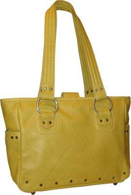 Brynn Capella Edie Leather Tote Wyoming Yellow - Brynn Capella Leather Handbags