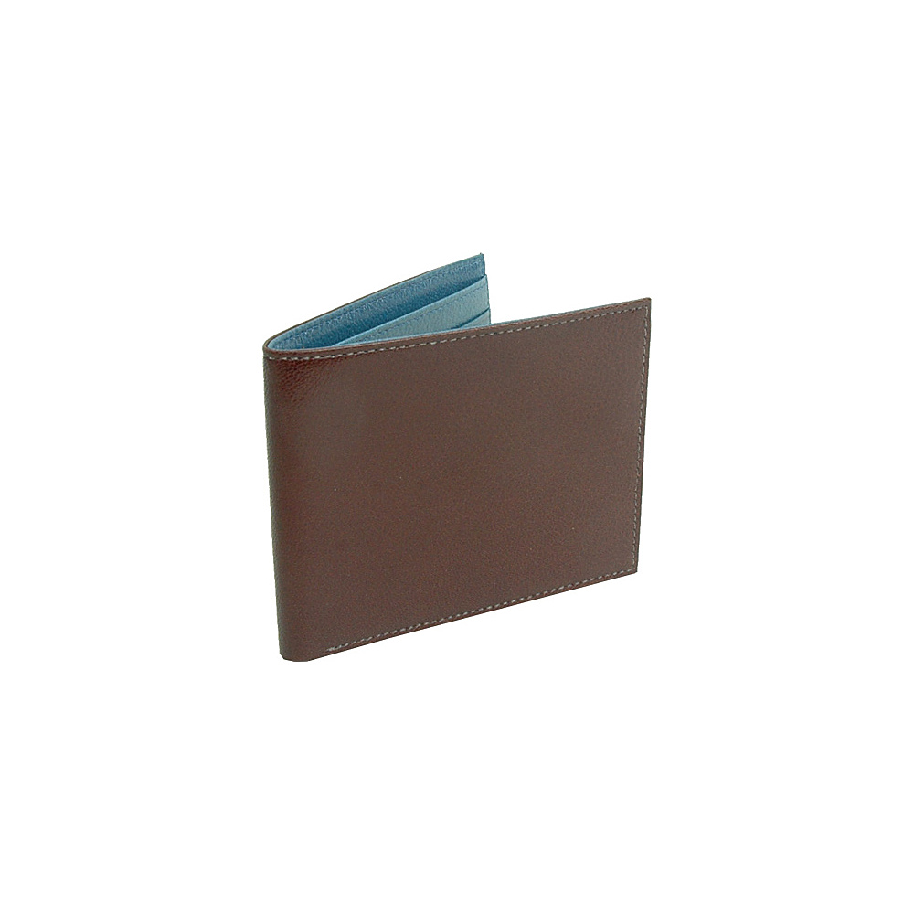 TUSK LTD Leonardo Billfold Wallet Chocolate Blue