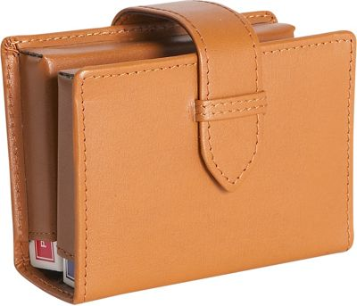 Royce Leather Leather Deck of Cards Case - Tan