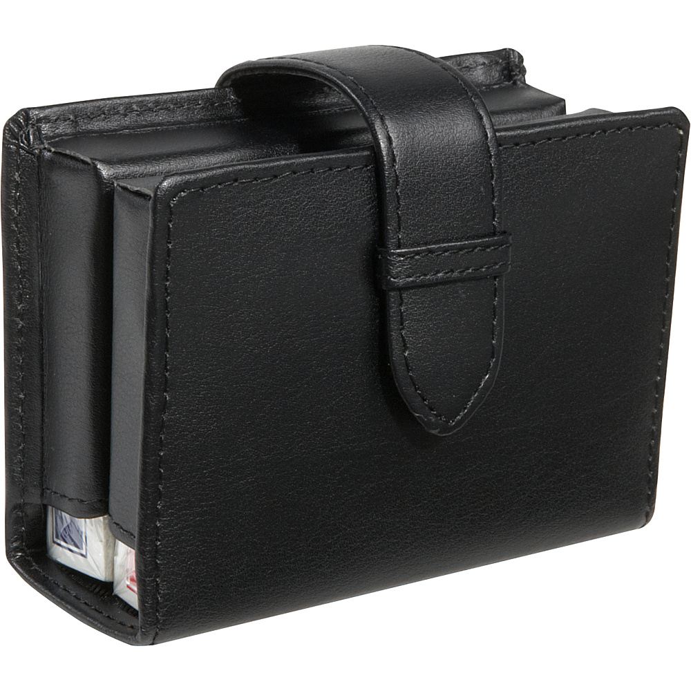 Royce Leather Leather Deck of Cards Case Black - Royce Leather Business Accessories - Work Bags & Briefcases, Business Accessories