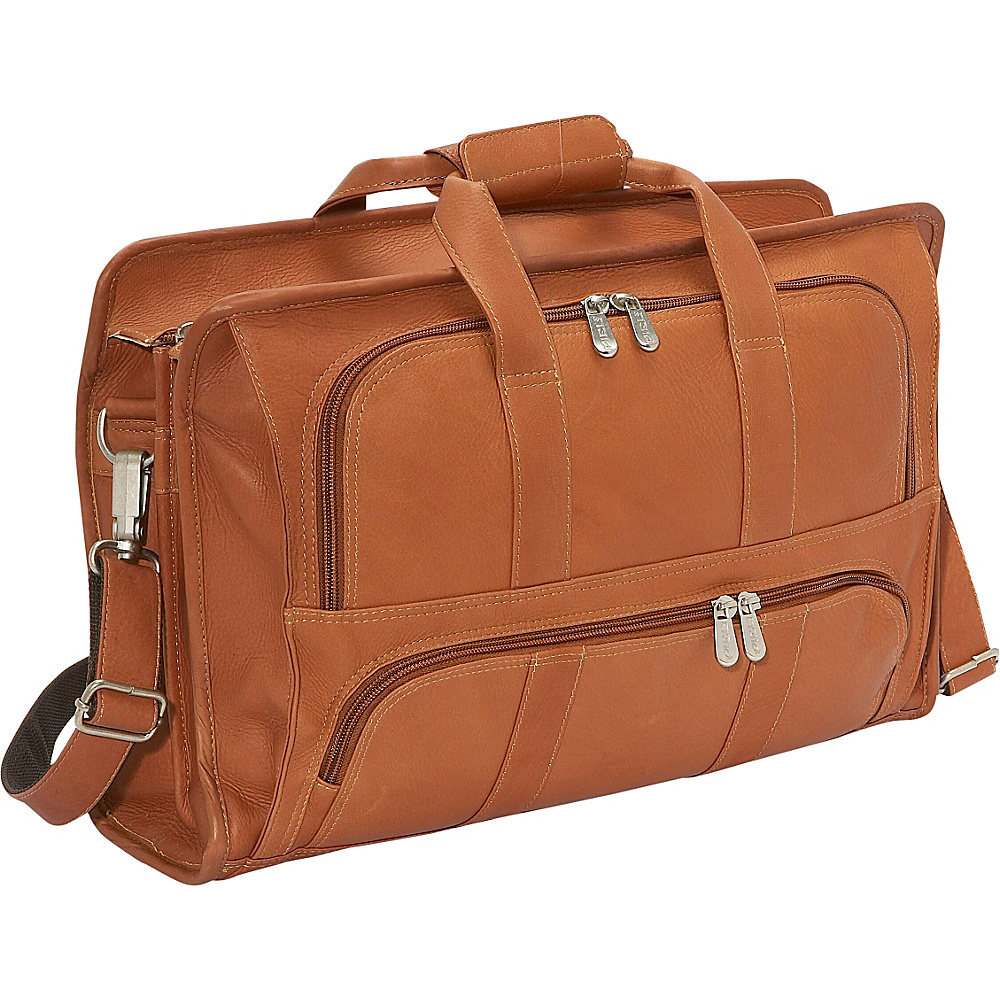 Piel Half Moon Portfolio - Saddle - Work Bags & Briefcases, Non-Wheeled Business Cases