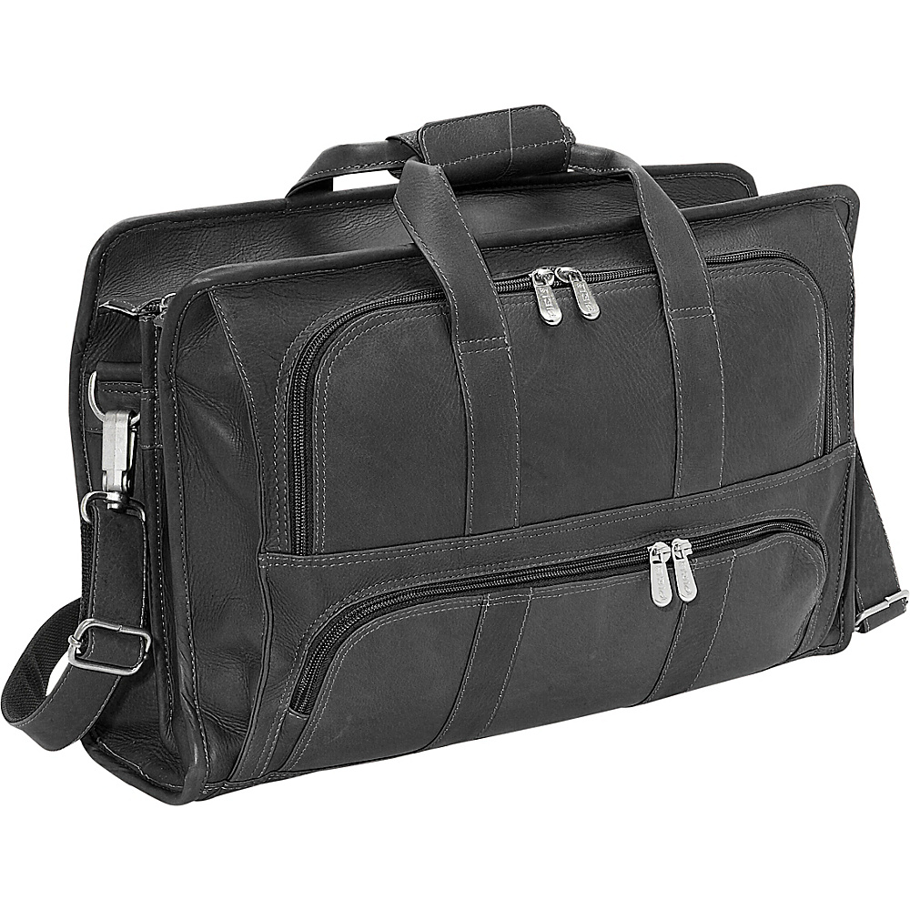 Piel Half Moon Portfolio - Black - Work Bags & Briefcases, Non-Wheeled Business Cases