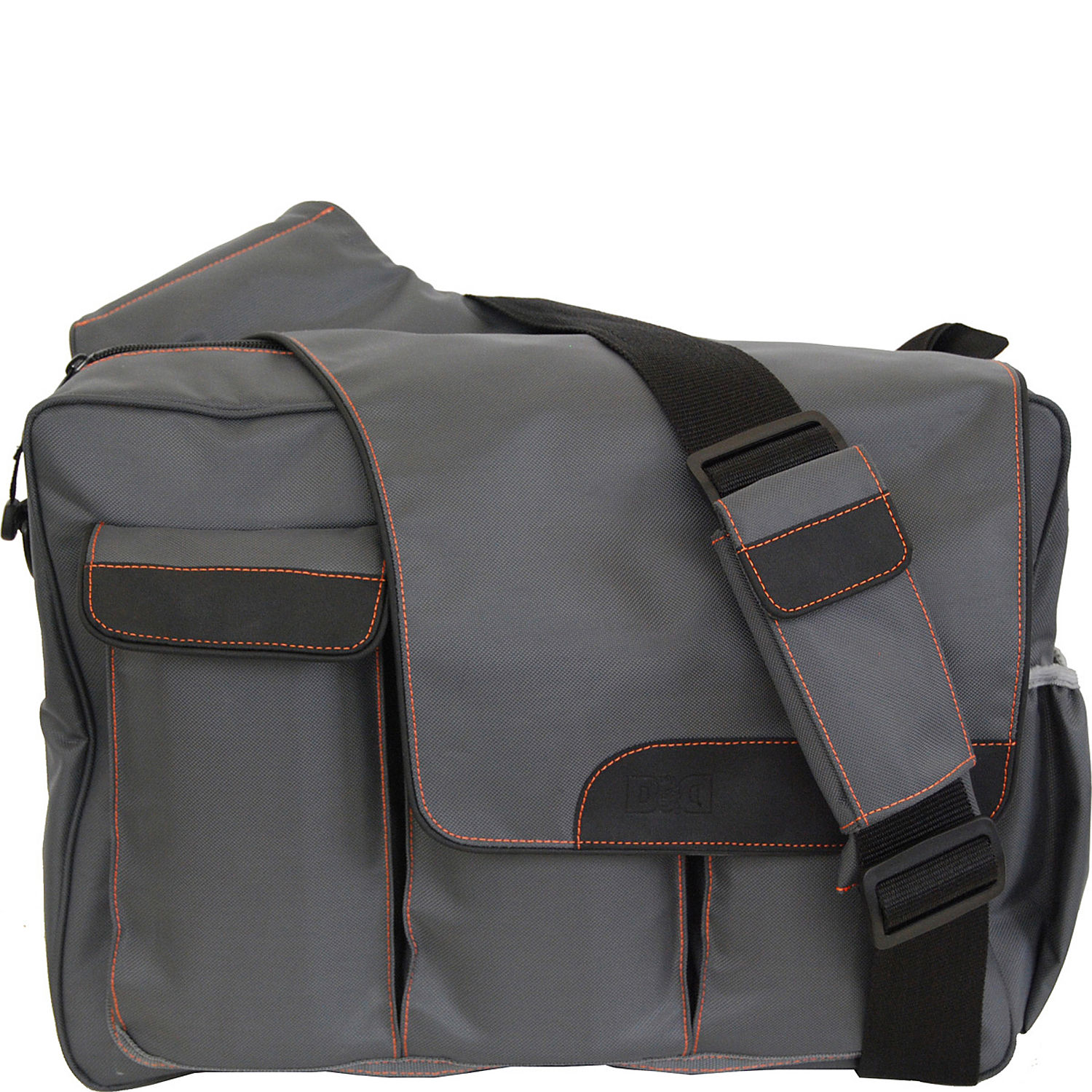 diaper dude grey messenger ii diaper bag flap. Black Bedroom Furniture Sets. Home Design Ideas