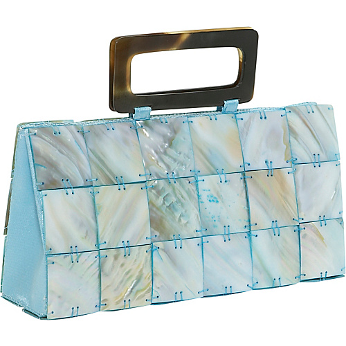 Global Elements Rectangle Mother of Pearl Handbag - Clutch