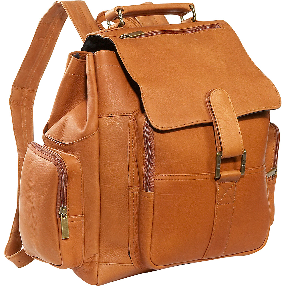 David King & Co. Top Handle X-Large Backpack - Tan - Handbags, Manmade Handbags