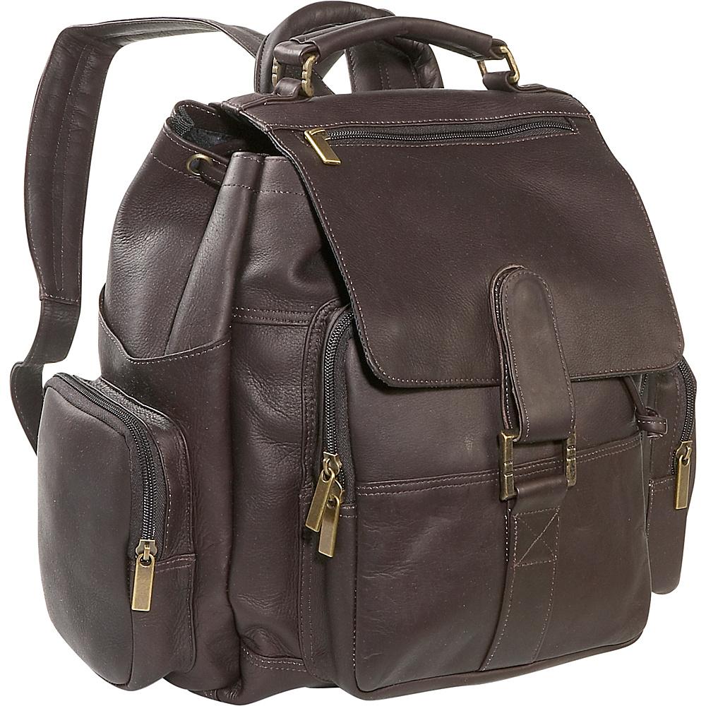 David King & Co. Top Handle X-Large Backpack - Cafe - Handbags, Manmade Handbags