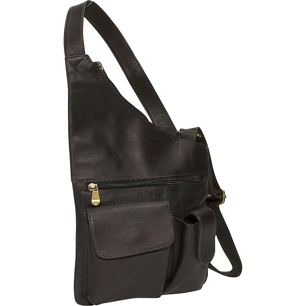 David King & Co. Cross Body Bag Cafe - David King & Co. Leather Handbags - Handbags, Leather Handbags