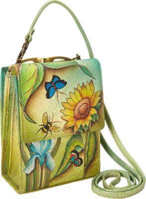 Anuschka Mini Sling Organizer Floral Dreams - Anuschka Leather Handbags