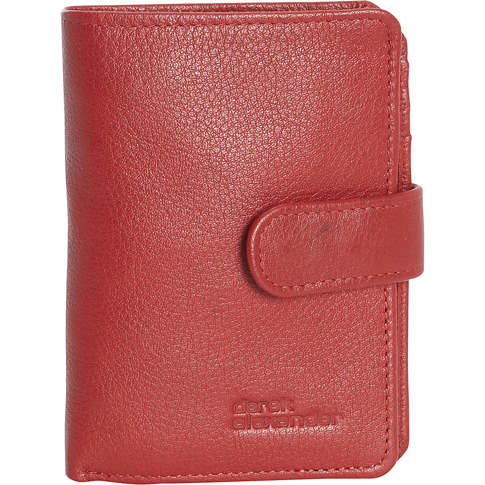 Derek Alexander Ladies Showcard with Wing Red - Derek Alexander Womens Wallets - Women's SLG, Women's Wallets