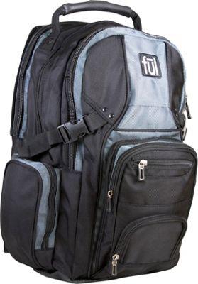 ful Tennman Laptop Backpack Black - ful Laptop Backpacks
