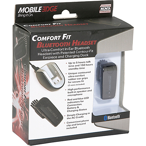 Mobile Edge Bluetooth Comfort Fit Head Set - Black