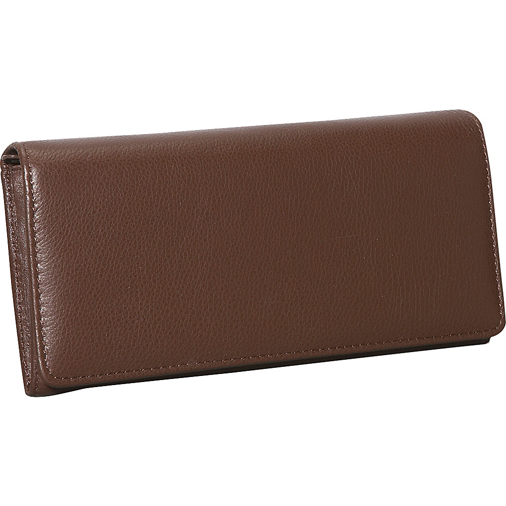 Dopp Roma Expandable Clutch Chocolate Brown