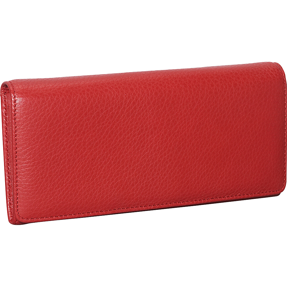Dopp Roma Expandable Clutch Dark Red