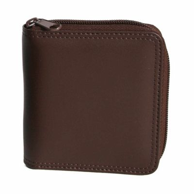 Royce Leather Royce Leather Zip Around Wallet - Coco/Coco