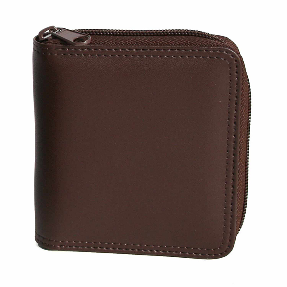 Royce Leather Zip Around Wallet - Coco/Coco - Work Bags & Briefcases, Men's Wallets