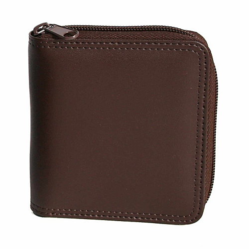 Royce Leather Zip Around Wallet - Coco/Coco