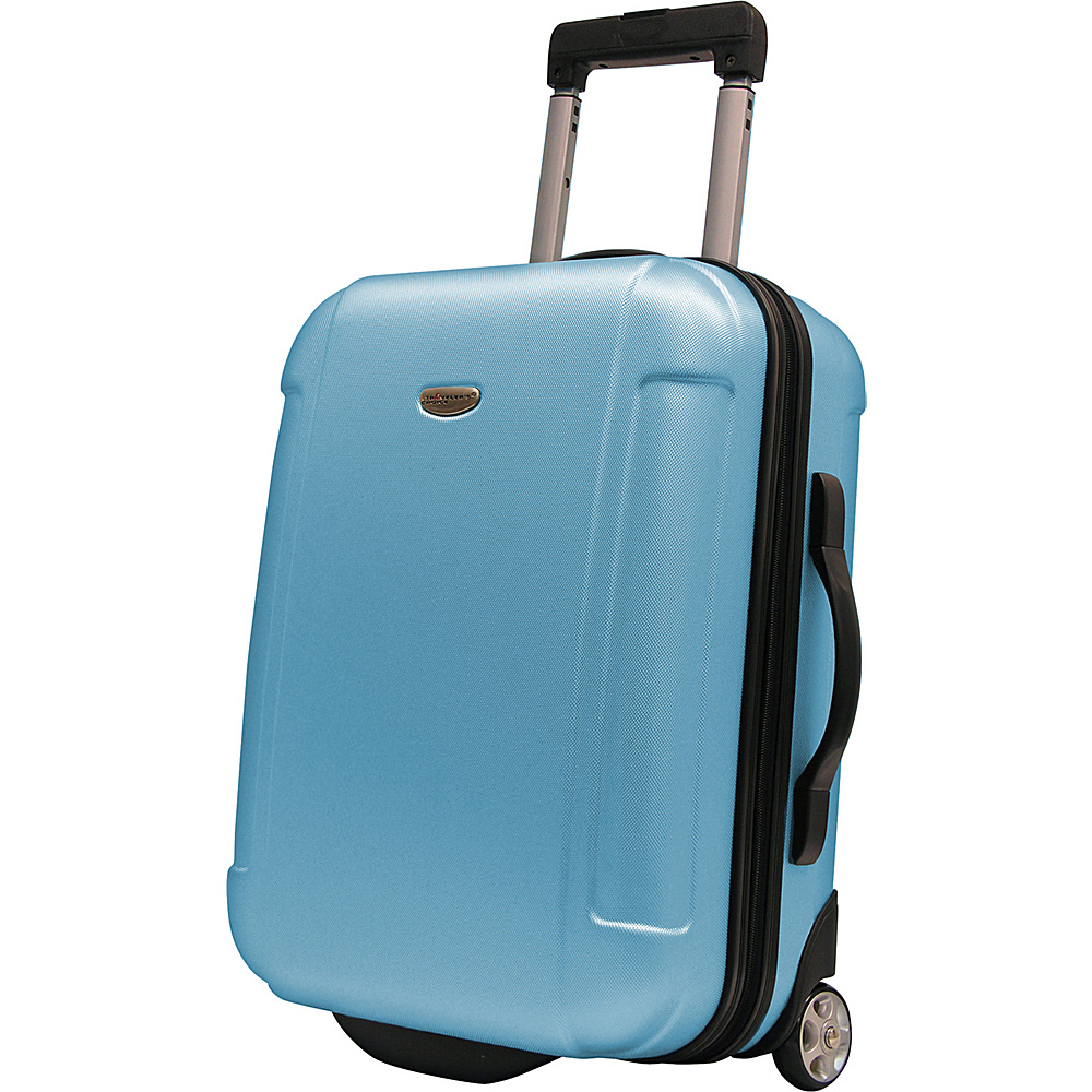 Traveler's Choice Freedom 21 in. Hardshell Wheeled Carry-On Suitcase Arctic Blue - Traveler's Choice Hardside Carry-On