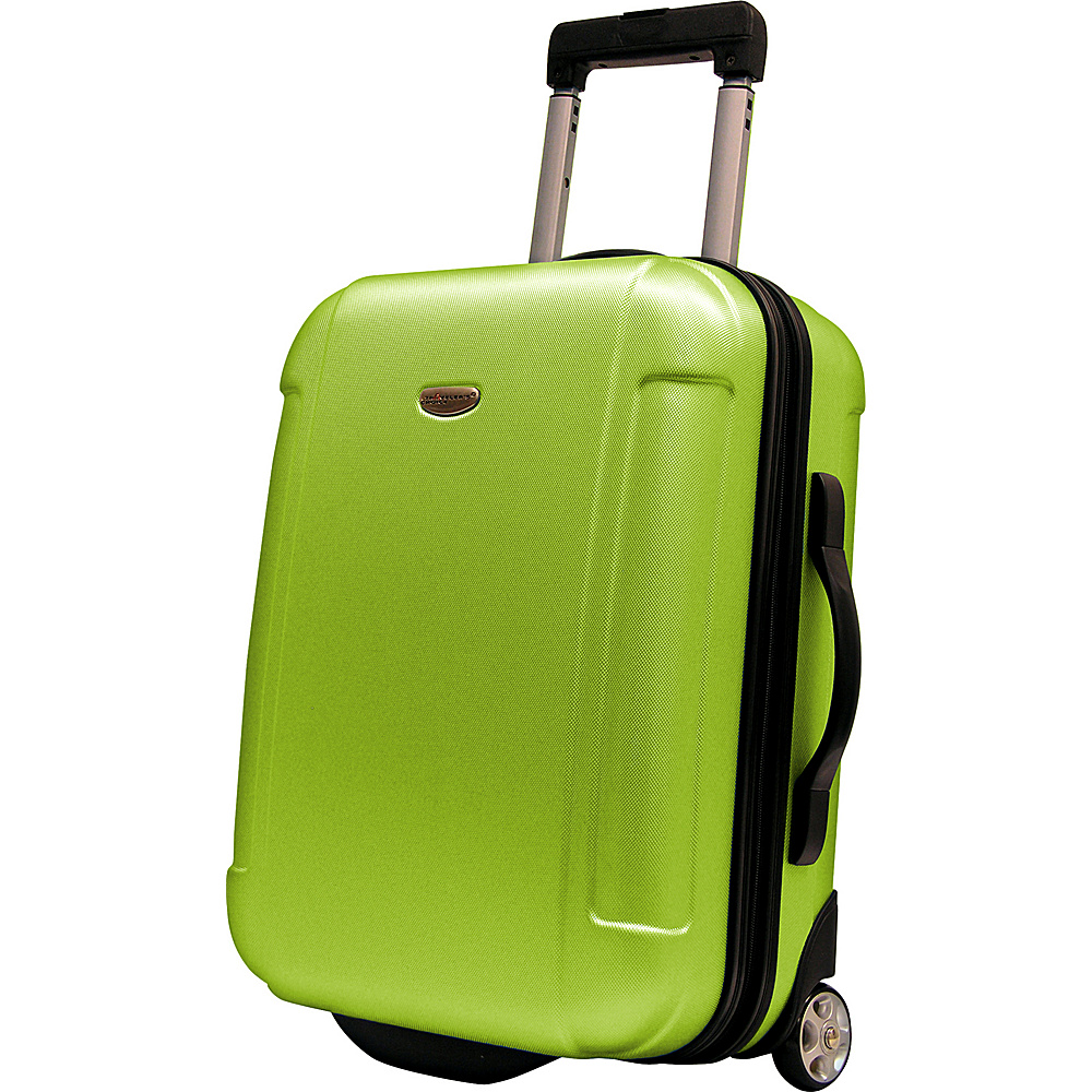 Travelers Choice Freedom 21 in. Hardshell Wheeled Carry-On Suitcase Apple Green - Travelers Choice Hardside Carry-On - Luggage, Hardside Carry-On