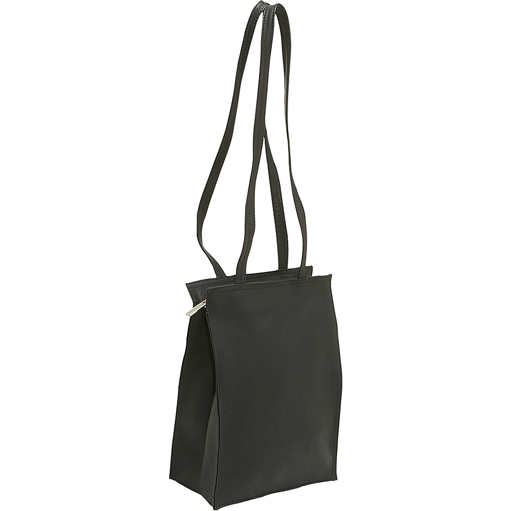 Le Donne Leather Zip Top Tote - Black - Handbags, Leather Handbags