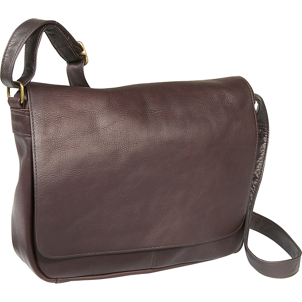Le Donne Leather Flap Over Shoulder Bag - Caf - Handbags, Leather Handbags