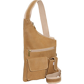 Distressed Leather Cross Body Bag Distressed Tan
