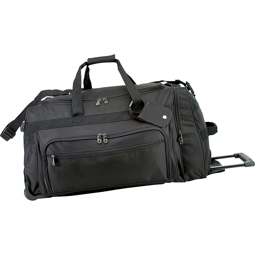 U.S. Traveler 28 in. Titan Rolling Duffel Bag - Black - Luggage, Softside Checked