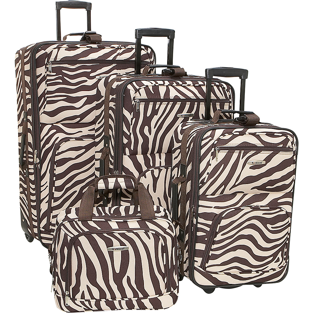 Rockland Luggage 4 Piece Expandable Luggage Set - Brown