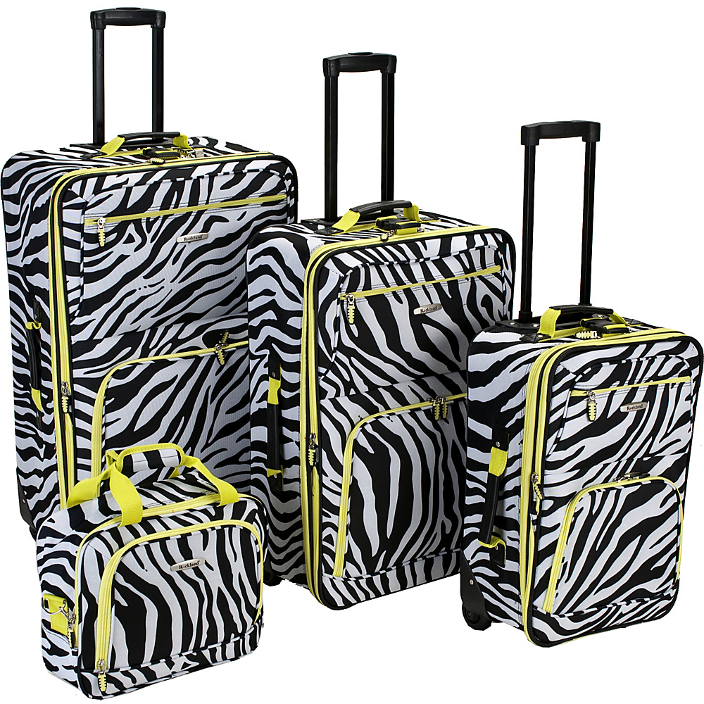 Rockland Luggage 4 Piece Expandable Luggage Set - Lime