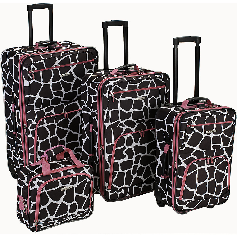 Rockland Luggage 4 Piece Expandable Luggage Set - Pink - Luggage, Luggage Sets