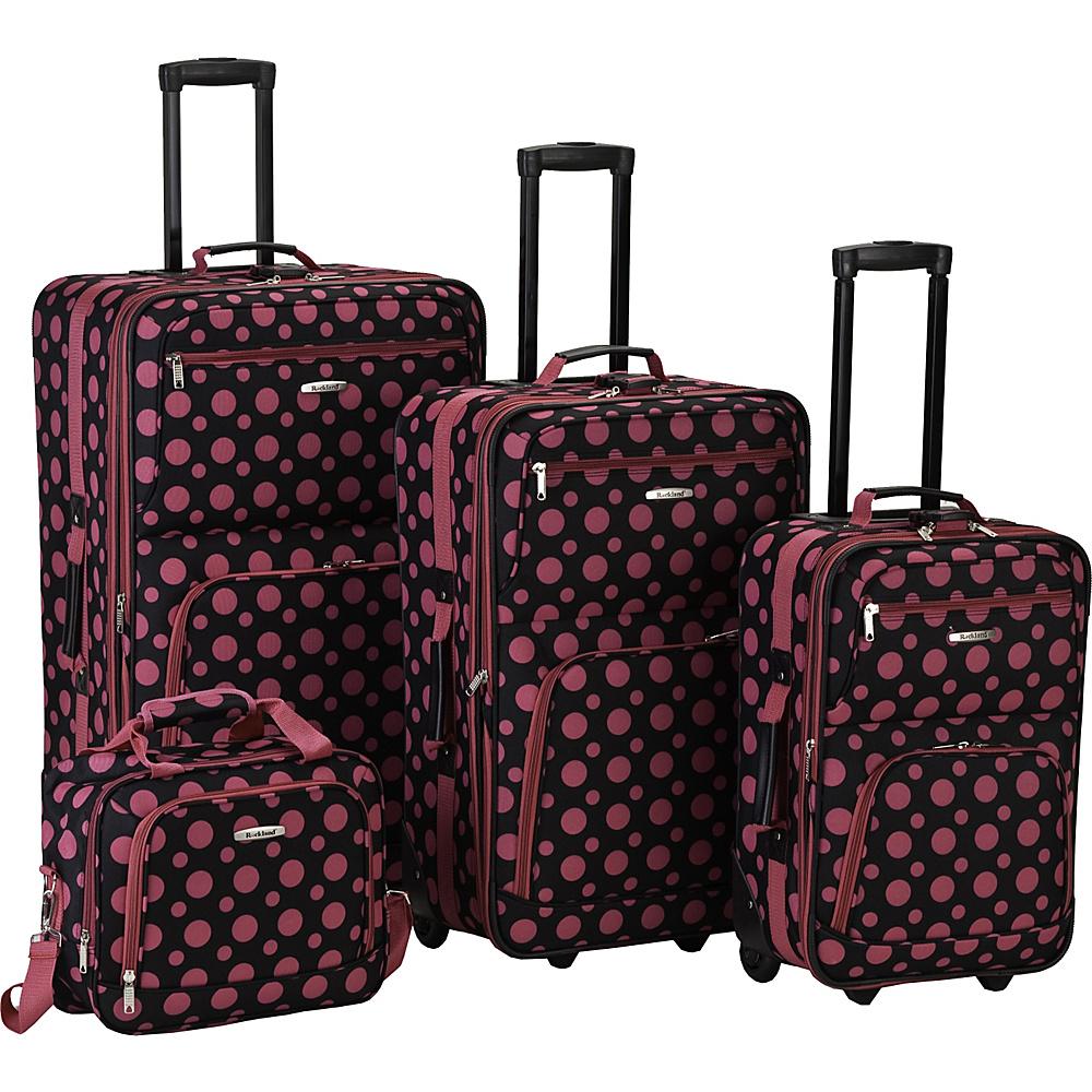 Rockland Luggage 4 Piece Expandable Luggage Set - Black