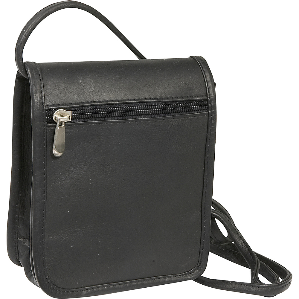 Le Donne Leather Mini Full Flap - Black - Handbags, Leather Handbags