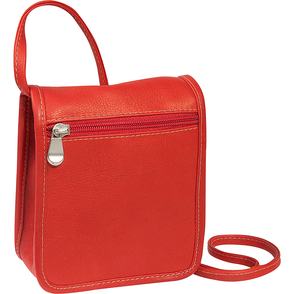Le Donne Leather Mini Full Flap - Red - Handbags, Leather Handbags