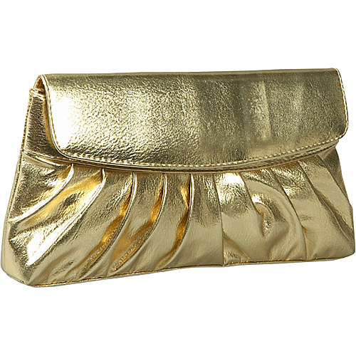 Coloriffics Handbags Pleated Smooth Metallic Evening - Clutch