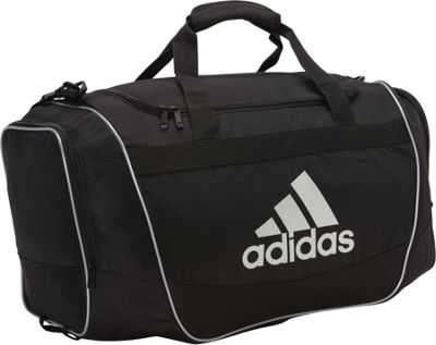 adidas Defender Duffel II - Medium Black/Silver - adidas Gym Duffels