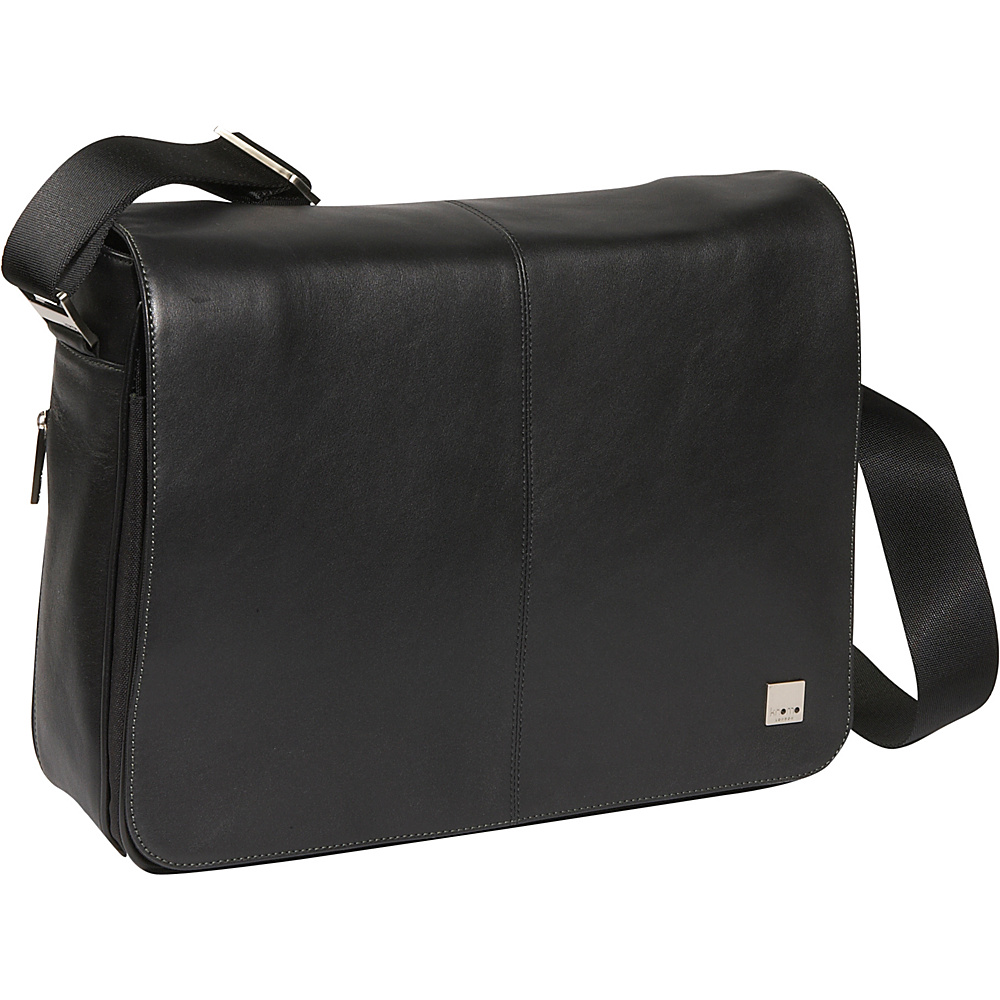 Knomo Bungo 15 Laptop Messenger - Black - Work Bags & Briefcases, Messenger Bags