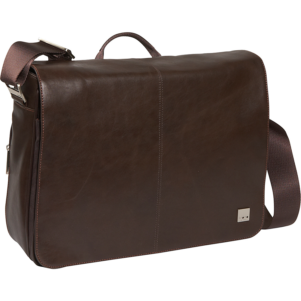 Knomo Bungo 15 Laptop Messenger - Brown - Work Bags & Briefcases, Messenger Bags