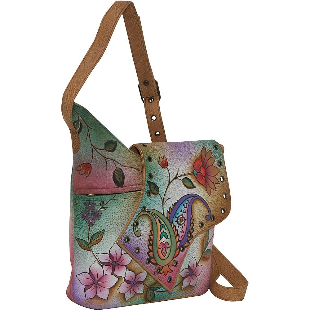 Anuschka Abstract Flap Bag-Wild Hibiscus - Jaipur