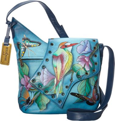 Image of Anuschka Abstract Flap Bag Hawaiian Twilight - Anuschka Leather Handbags