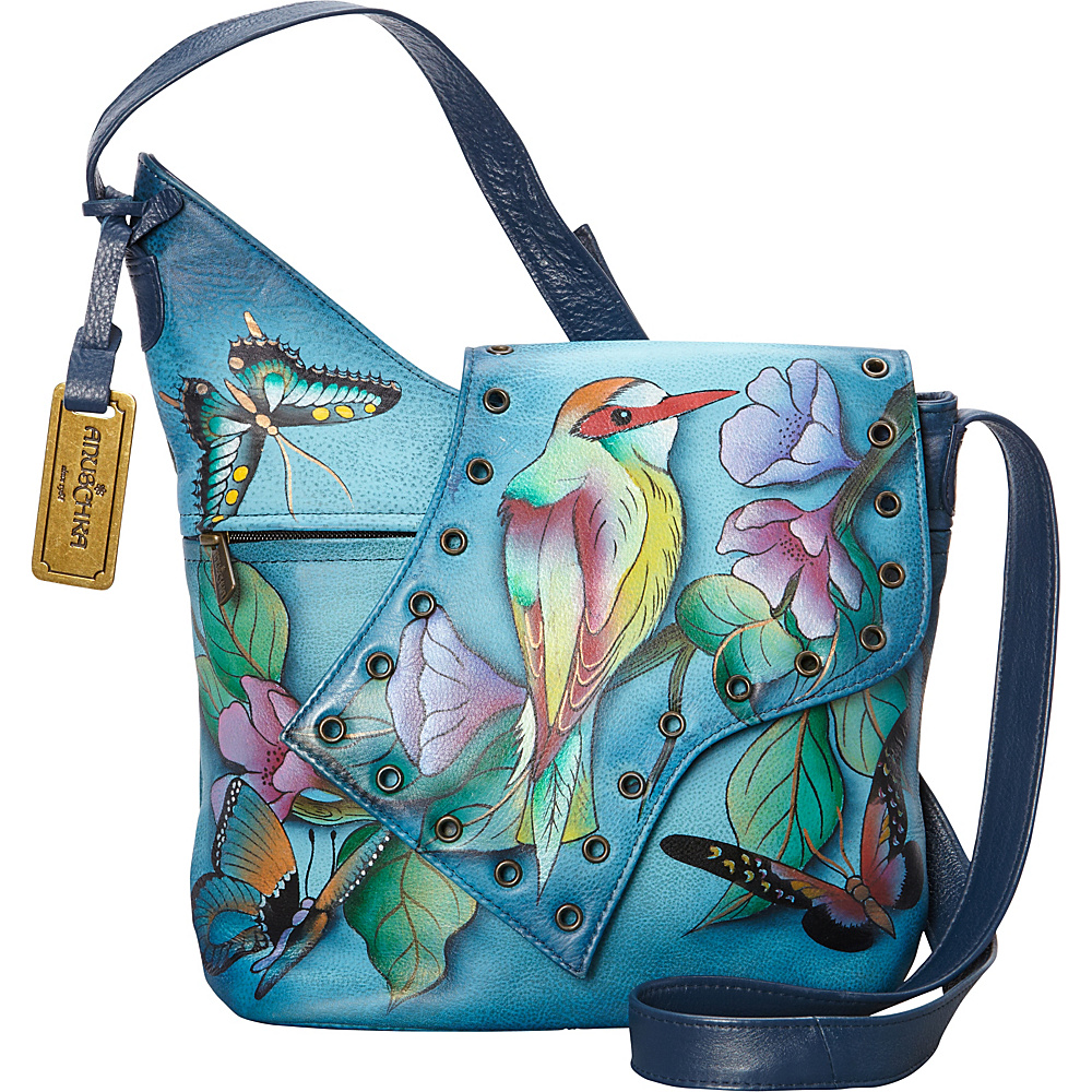 Anuschka Abstract Flap Bag Hawaiian Twilight - Anuschka Leather Handbags