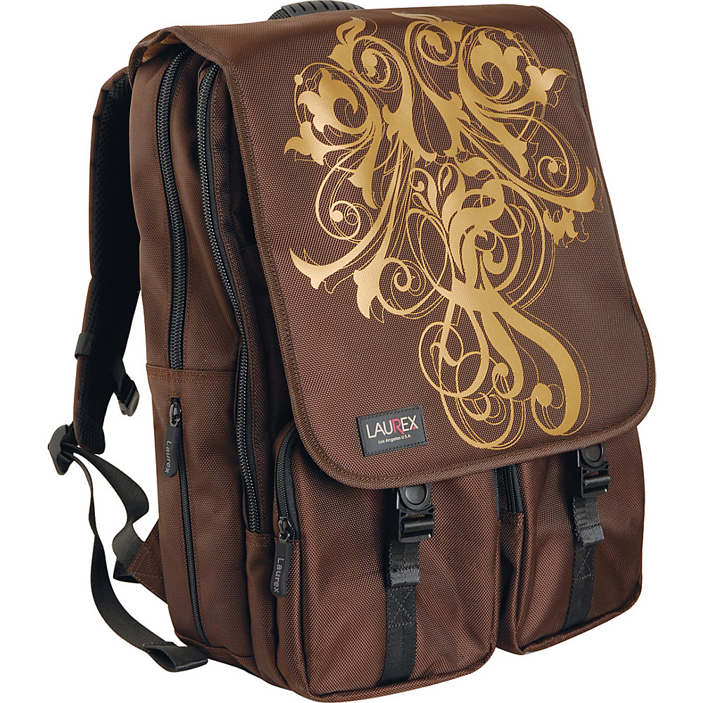 Laurex Laptop Backpack fits up to 17 Laptop Gold