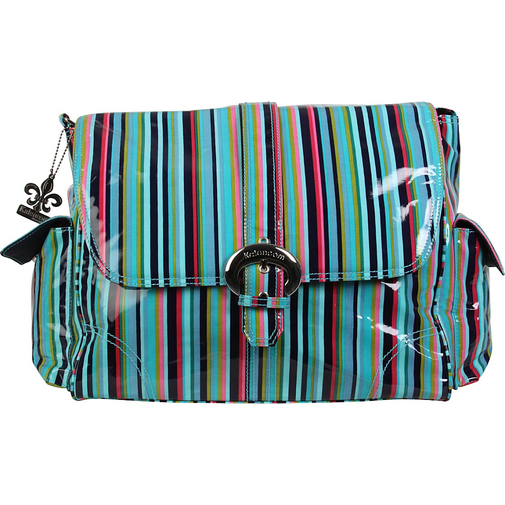 Kalencom Matte Coated Buckle Bag Dixie Stripes Kalencom Diaper Bags Accessories