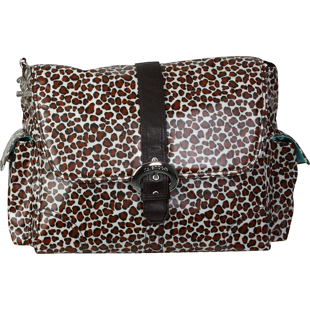 Kalencom Matte Coated Buckle Bag Safari Cheetah Kalencom Diaper Bags Accessories