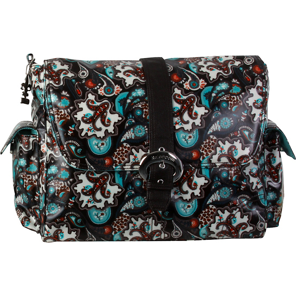 Kalencom Matte Coated Buckle Bag Safari Paisley Kalencom Diaper Bags Accessories